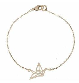 Timi bracelet - origami crane (silver)