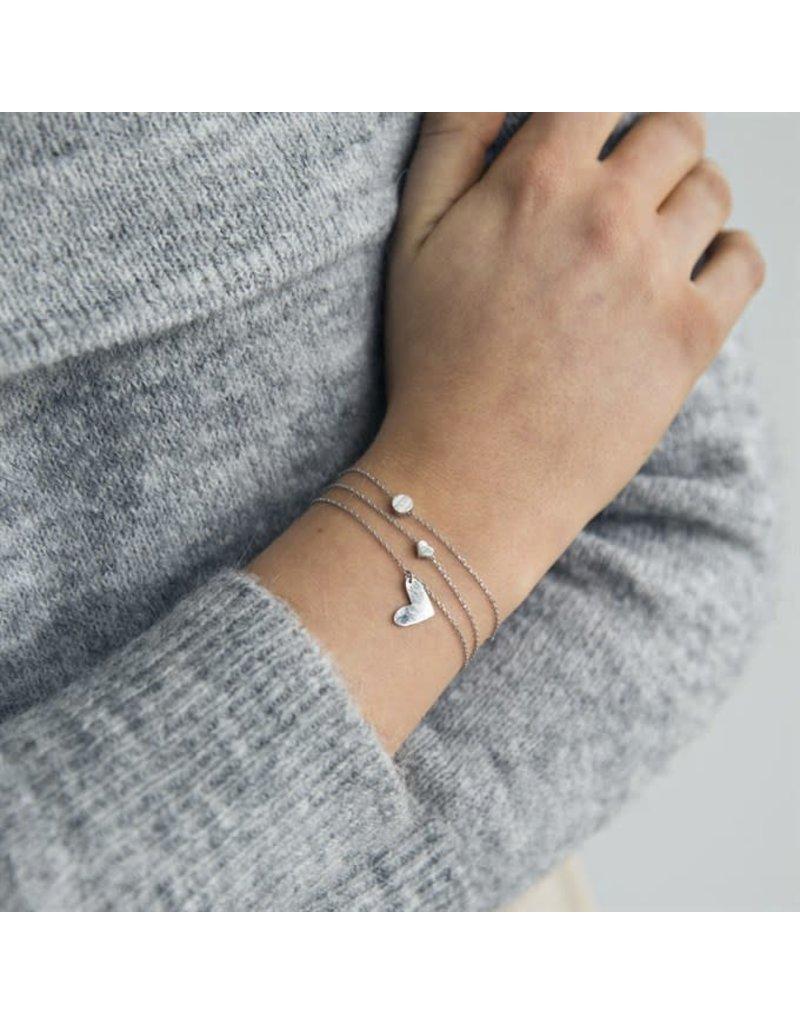 Timi armband - hart (silver)