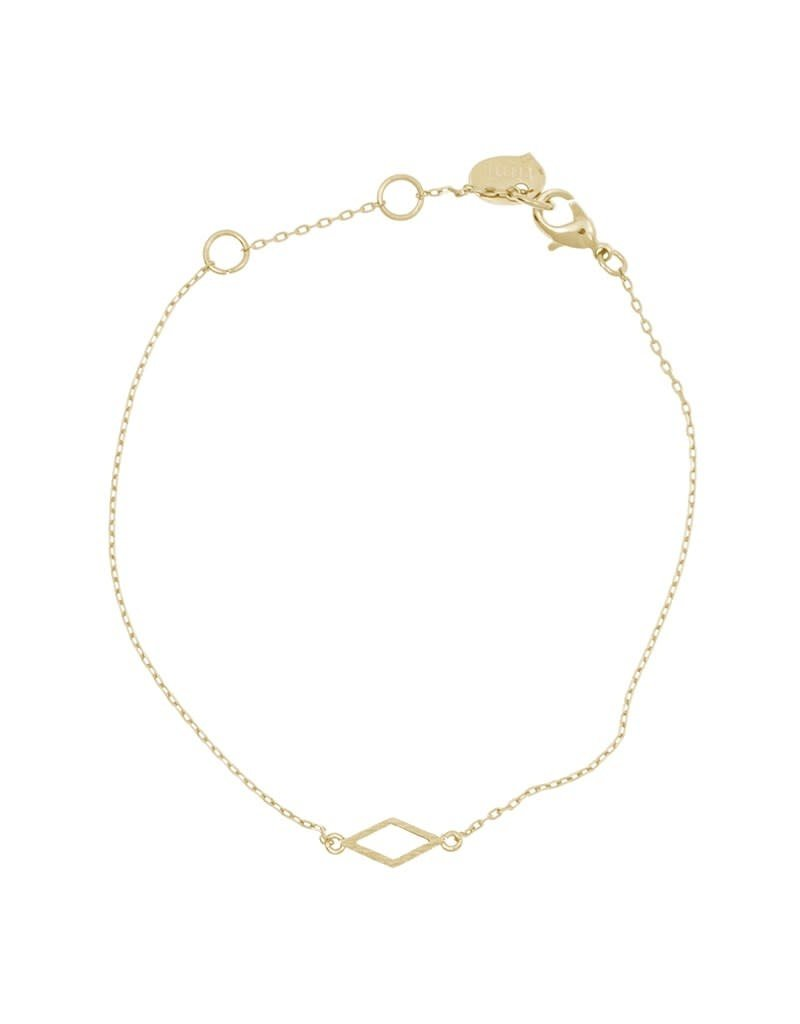 Timi armband - 2D diamant (goud)
