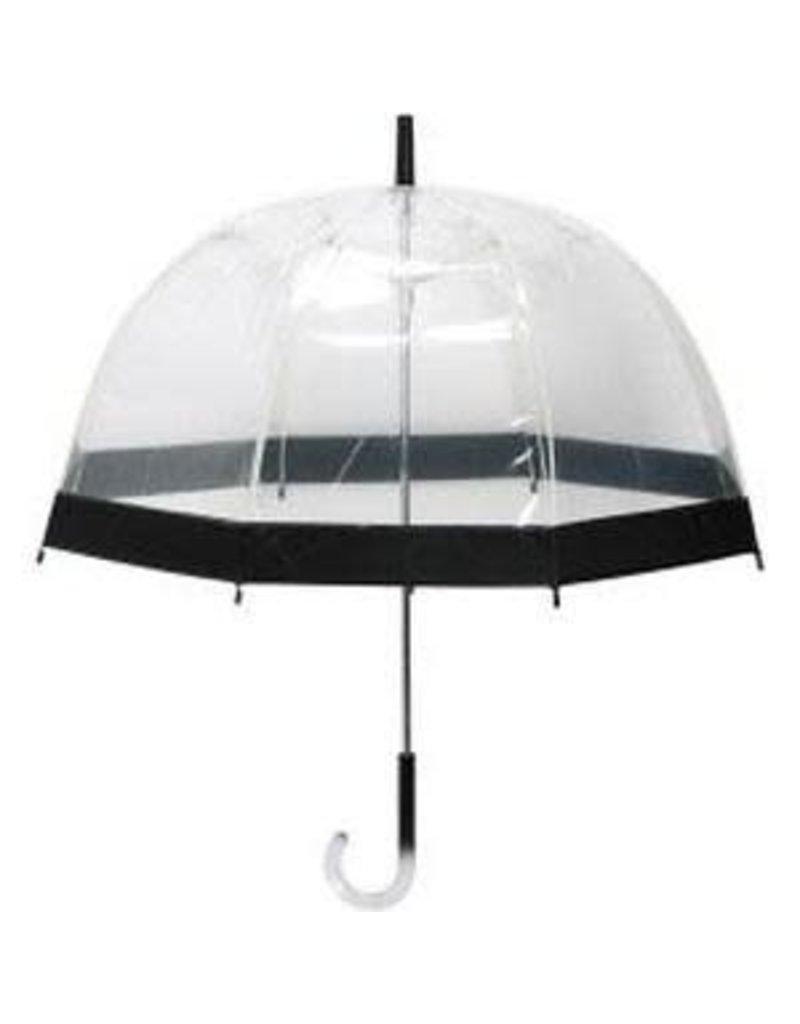 Le Studio paraplu - transparant (zwart)