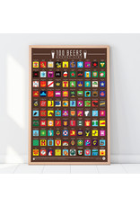 Gift Republic scratch poster - 100 beers