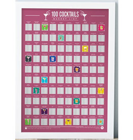 Gift Republic scratch poster - 100 cocktails