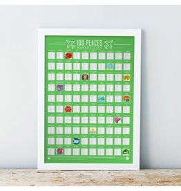 Gift Republic scratch poster - 100 places