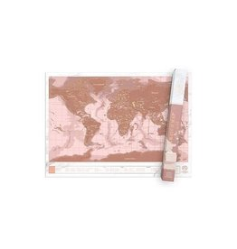 Luckies scratchmap - rose/gold (small)