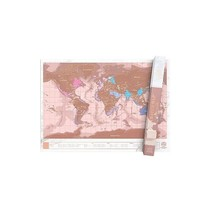 Luckies scratchmap - rose/gold (large)