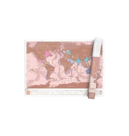 Luckies scratchmap - roze/goud (large)