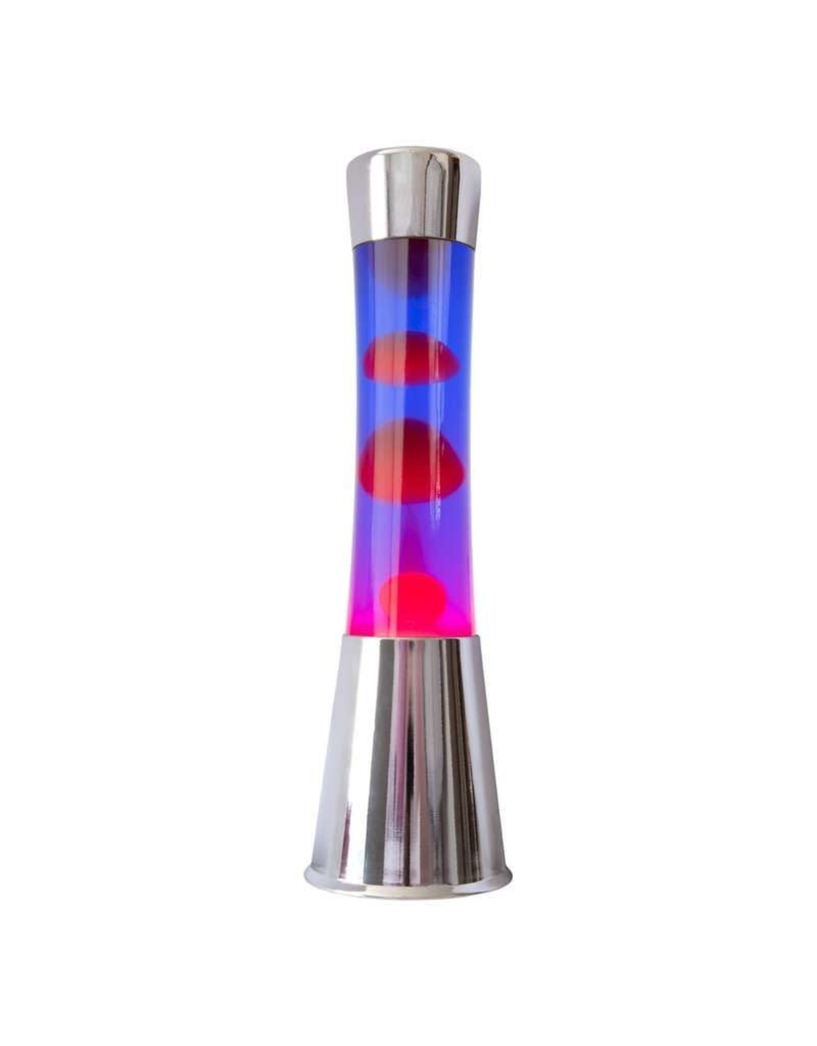 lava lamp - chrome base/red lava/purple liquid