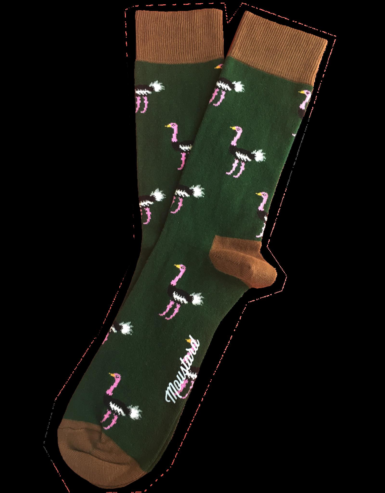 Moustard socks - ostrichs (36-40)