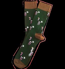Moustard sokken - struisvogel (36-40)