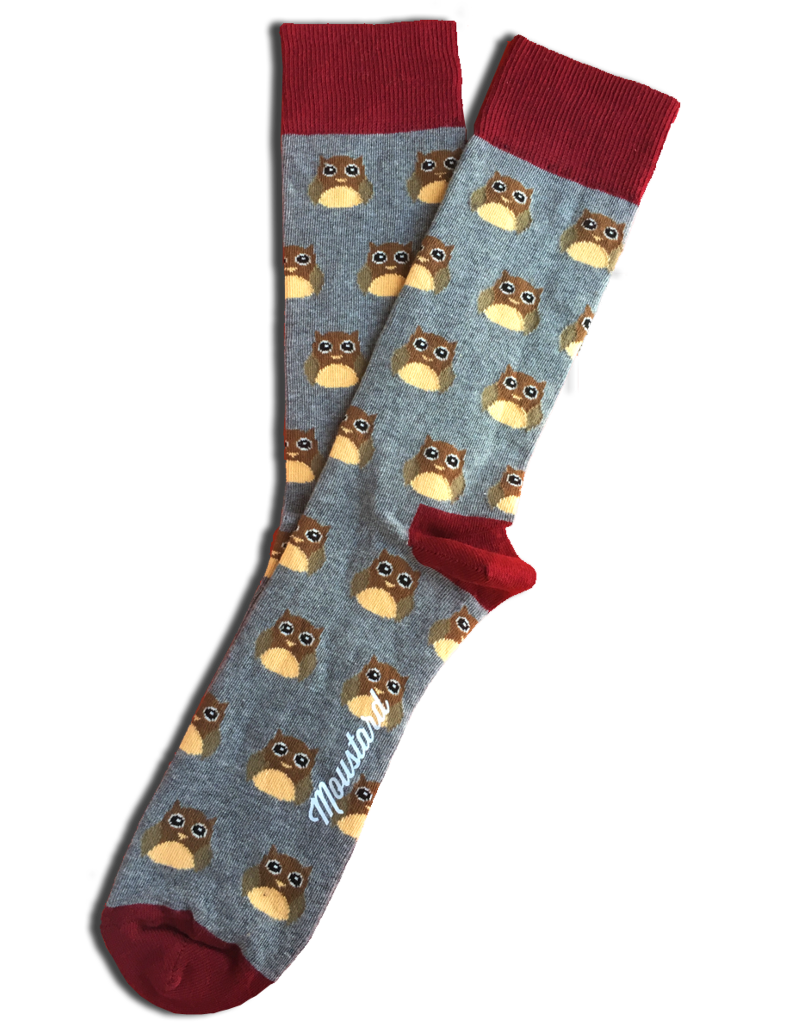 Moustard socks - owls (36-40)