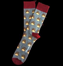 Moustard sokken - uilen (36-40)