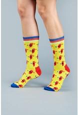 Moustard socks - parrots (36-40)