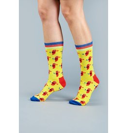 Moustard socks - parrots (36-40)