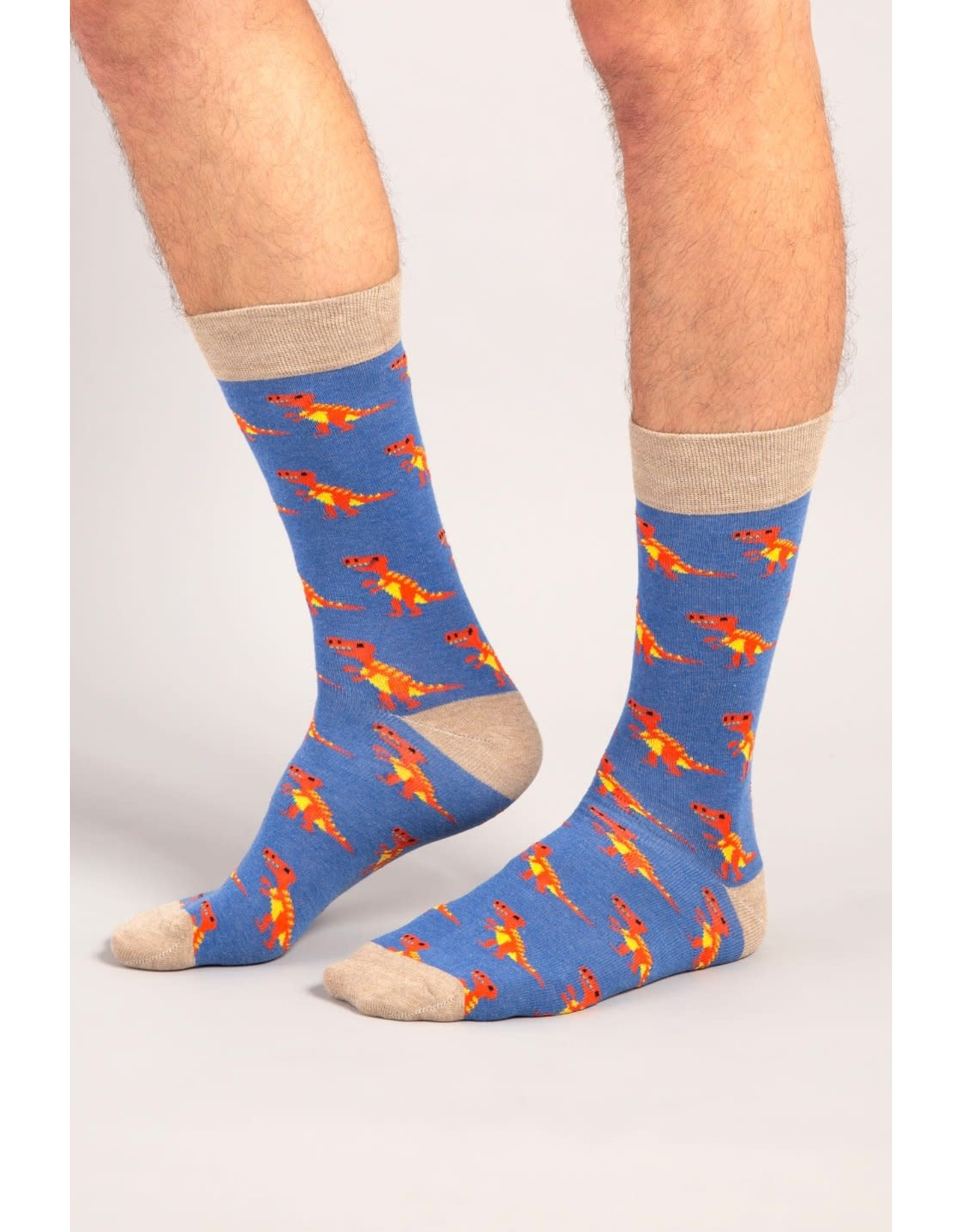 Moustard socks - T-rex (41-46)