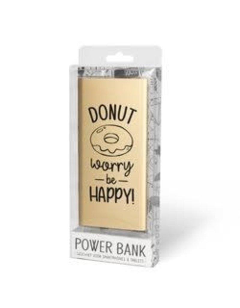 powerbank - donut worry be happy