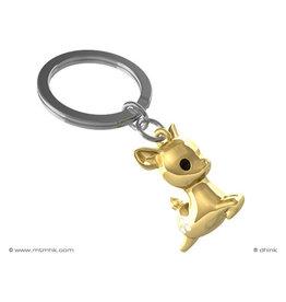 sleutelhanger - hert (goud)