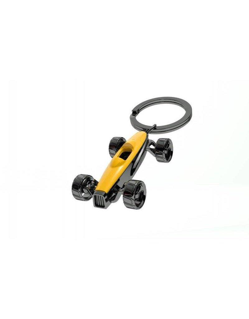MTM sleutelhanger - race auto (geel)