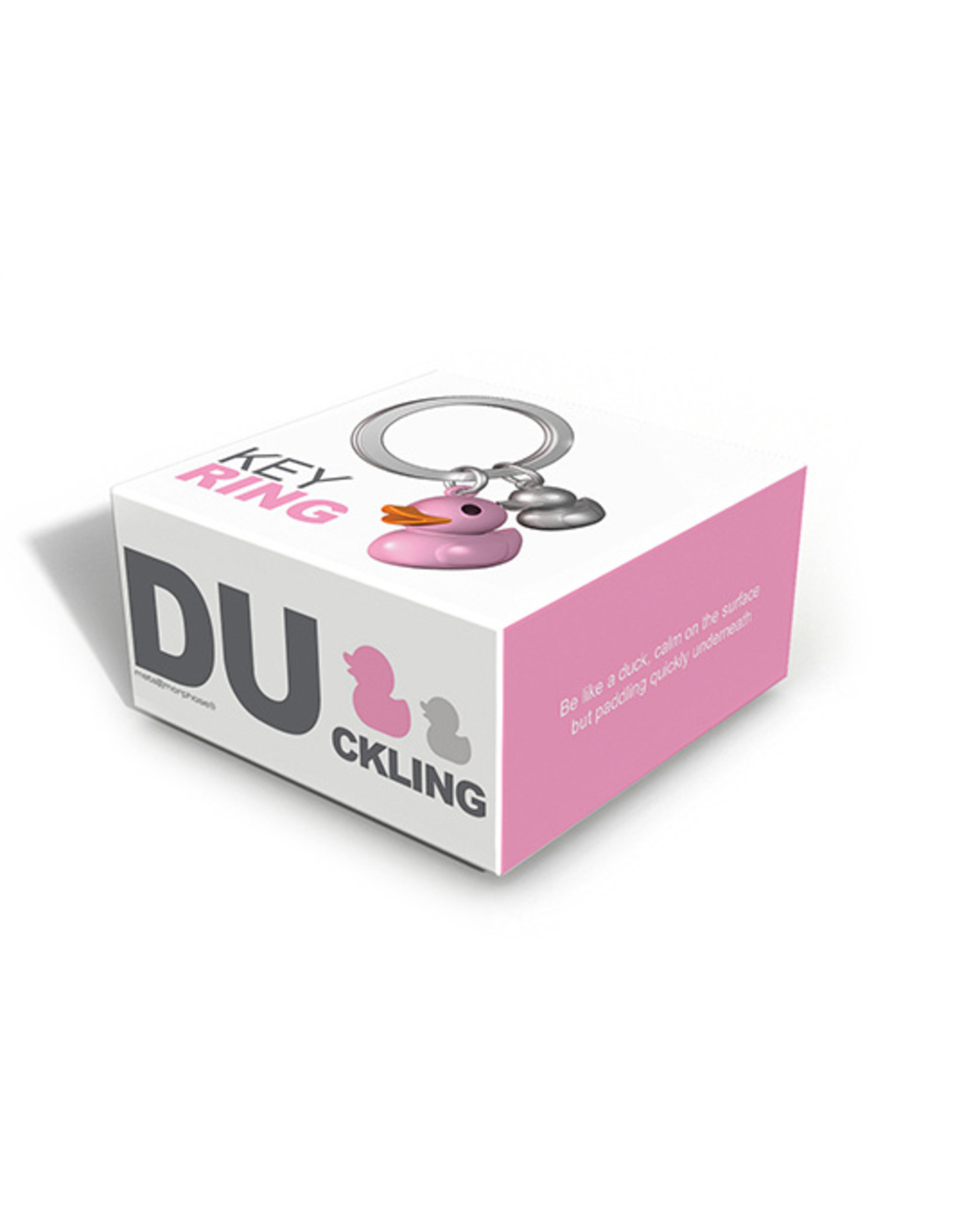 keyring - duck (pink)