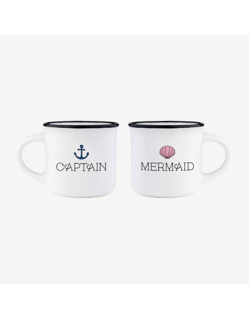 Legami espresso mugs - captain & mermaid