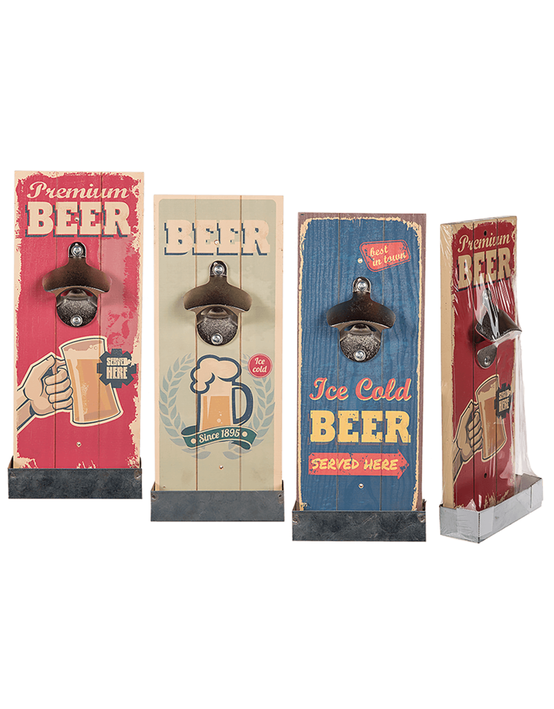 Out Of The Blue bottle opener - retro wood