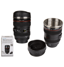 thermos mug - camera lens