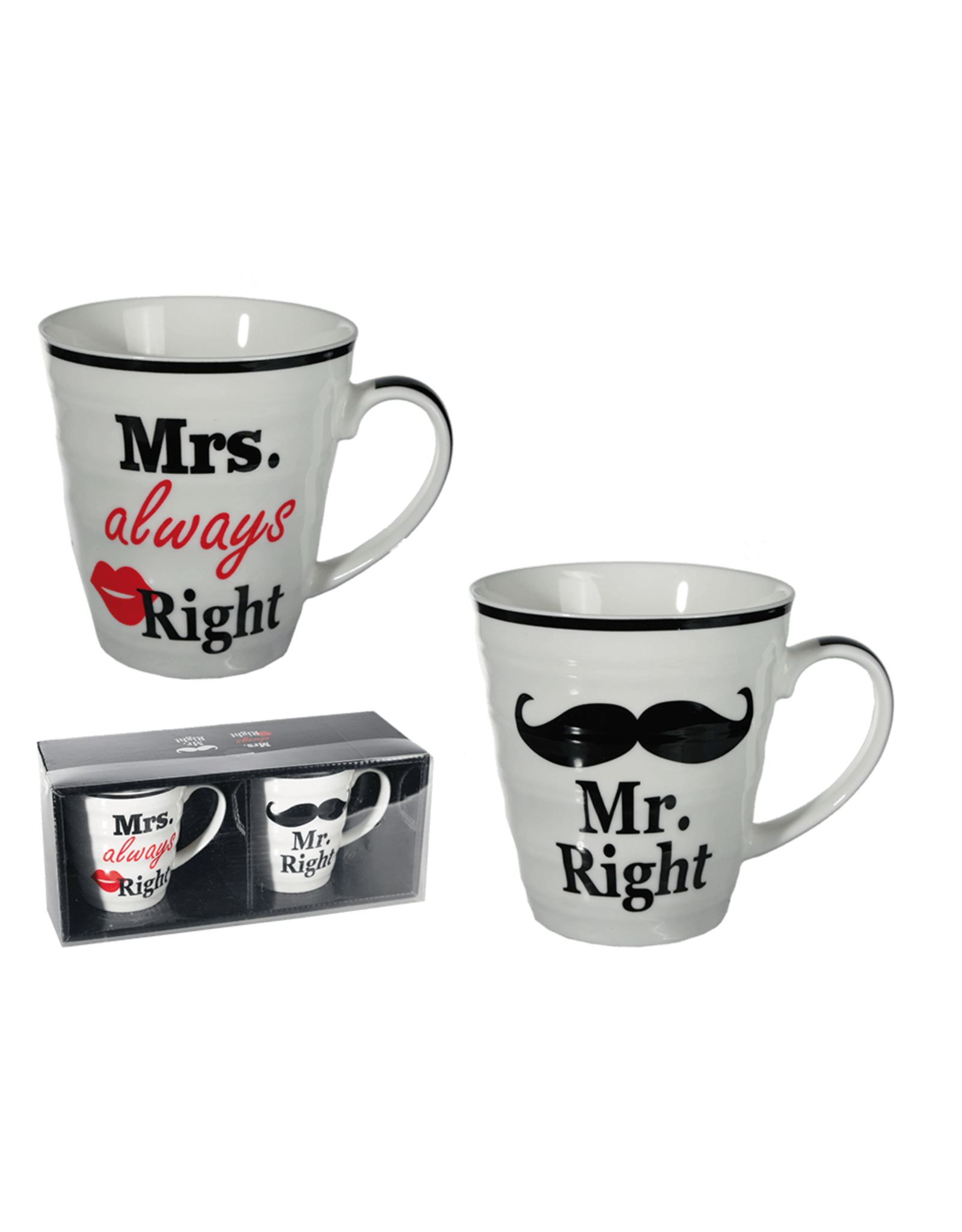 Out Of The Blue mug set - Mrs always right & Mr right