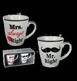 mokken set - Mrs always right & Mr right