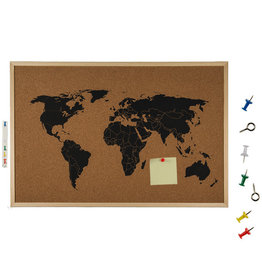 Out Of The Blue bulletin board - world map