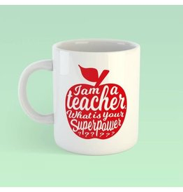 Studio Inktvis mok - I'm a teacher (rood)