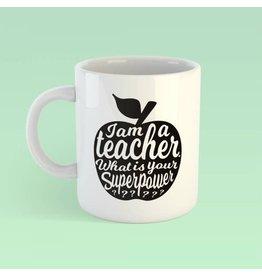Studio Inktvis mok - I'm a teacher (zwart)