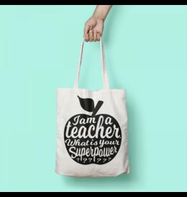 Studio Inktvis tote bag - I'm a teacher (zwart)