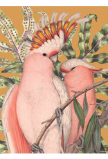 Vanilla Fly poster - birdie orange