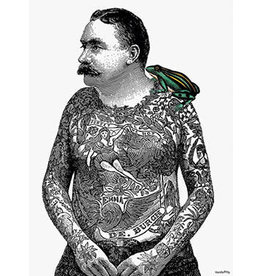 Vanilla Fly poster - tattoo man with frog