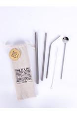 Helio Ferretti straws with cotton bag