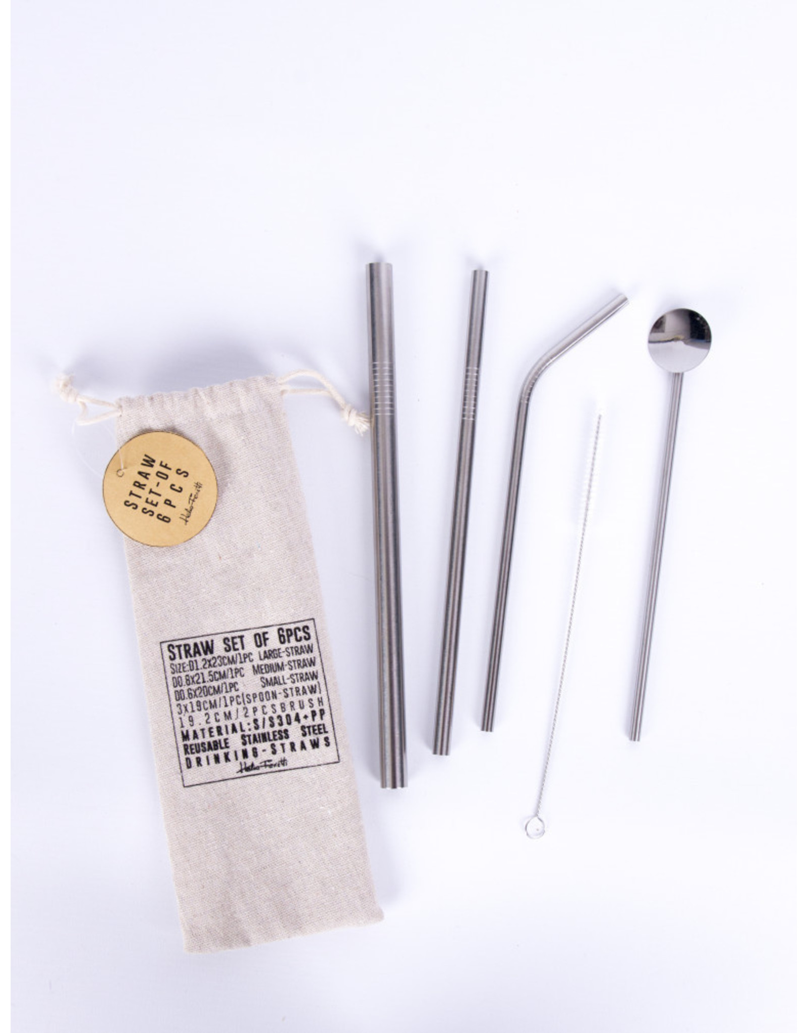 straws with cotton bag