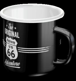 Nostalgic Art enamel mug - route 66