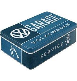 Nostalgic Art blikken doos - plat - VW garage