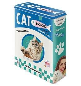 Nostalgic Art blikken doos - XL - cat food (groen/blauw)