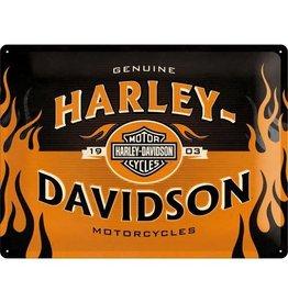 Nostalgic Art bord - Harley Davidson motorcycles (large)