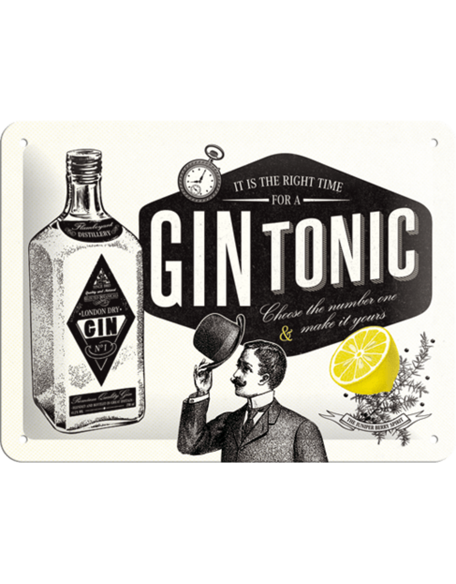 sign - 15x20 - gin tonic