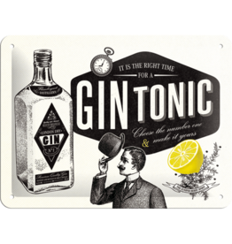 Nostalgic Art sign - 15x20 - gin tonic