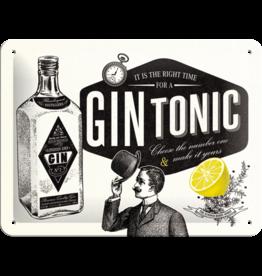 Nostalgic Art sign - gin tonic (small)