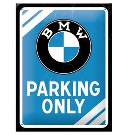 Nostalgic Art bord - BMW parking only (small)