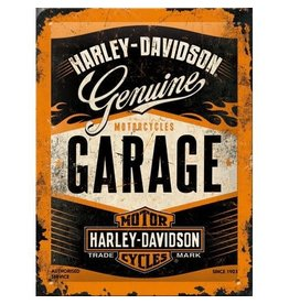 Nostalgic Art sign - 15 x 20 - Harley Davidson garage