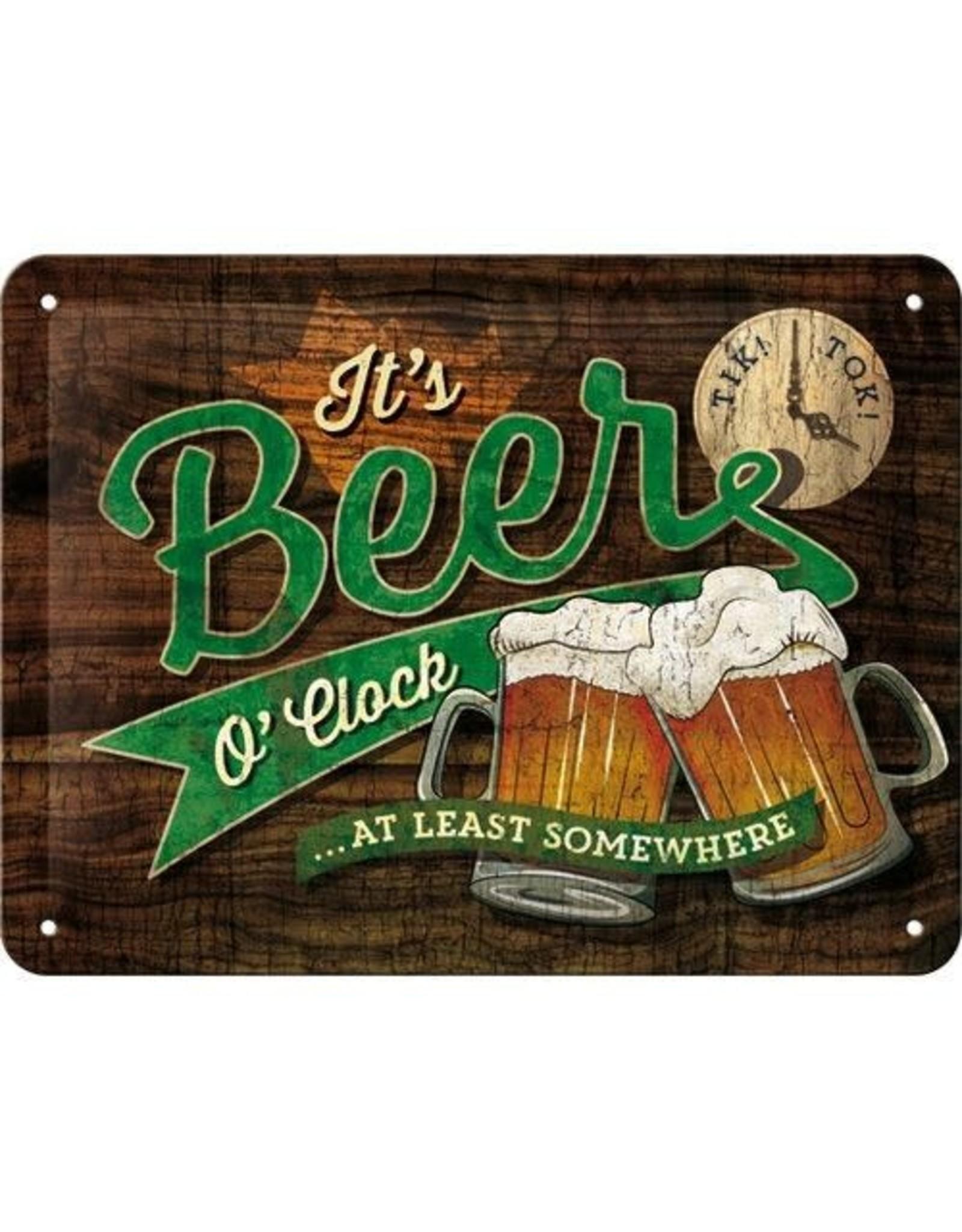 sign - 15x20 - beer o'clock