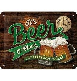 Nostalgic Art sign - beer o'clock (small)