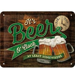 sign - 15x20 - beer o'clock