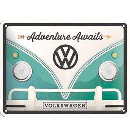 Nostalgic Art sign - VW adventure awaits (small)