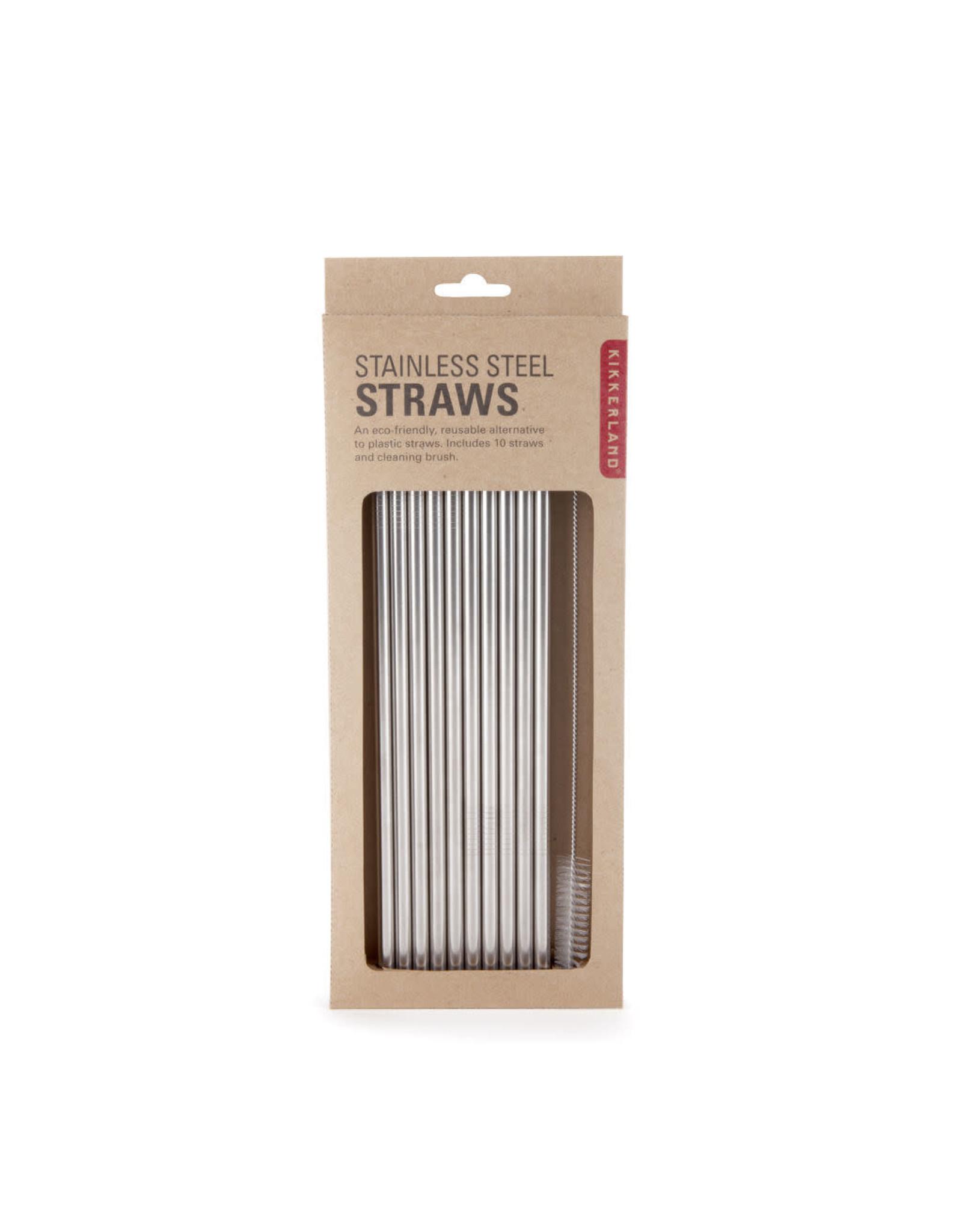 Kikkerland reusable straws - stainless steel