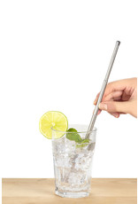 Kikkerland reusable straw - travel (silver)